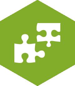 Heaxagon service icon, branding