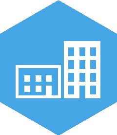 Heaxagon service icon, communications