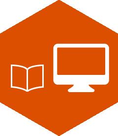 Heaxagon service icon, marketing