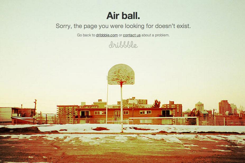 Dribbble 404 Error Page