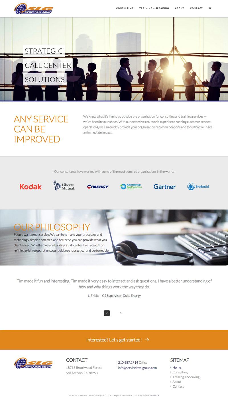 Service Level Group website desktop view